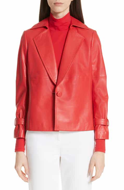 St. John Collection Luxe Nappa Leather Jacket by ST. JOHN COLLECTION