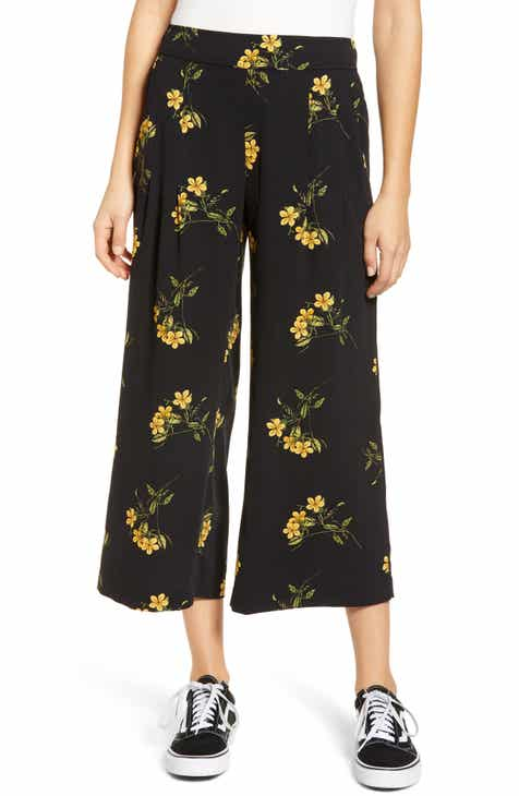 a348793ab5096 High Waist Soft Wide Leg Crop Pants (Regular   Plus Size)