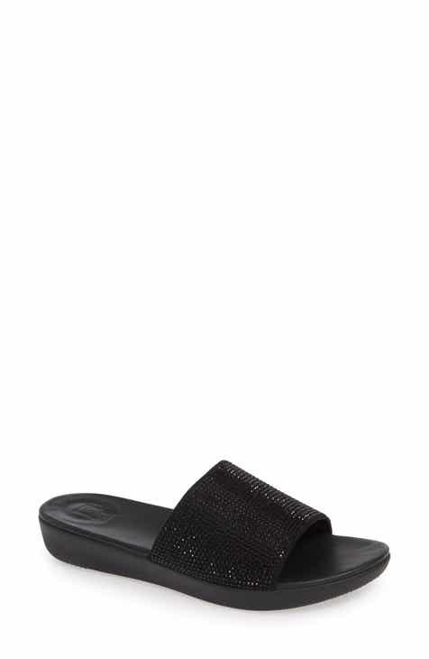 c00f8f31d FitFlop Sola Crystal Embellished Slide Sandal (Women)