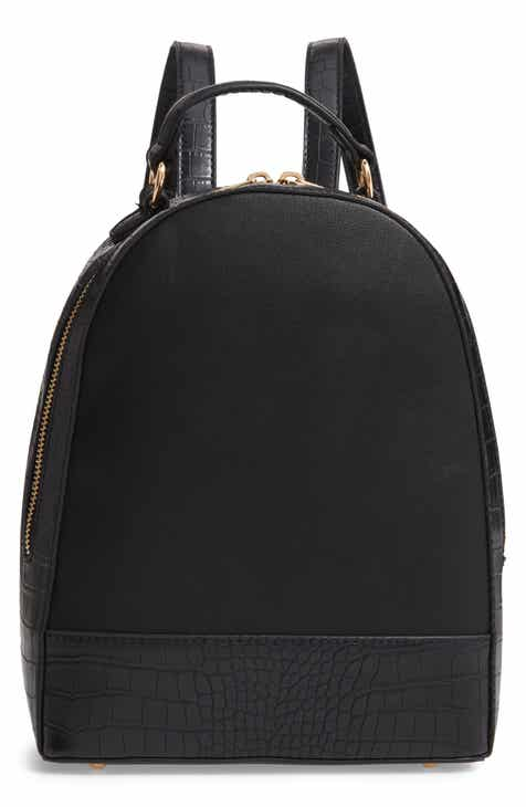 24e71b442be Sole Society Jamya Croc Embossed Faux Leather Backpack