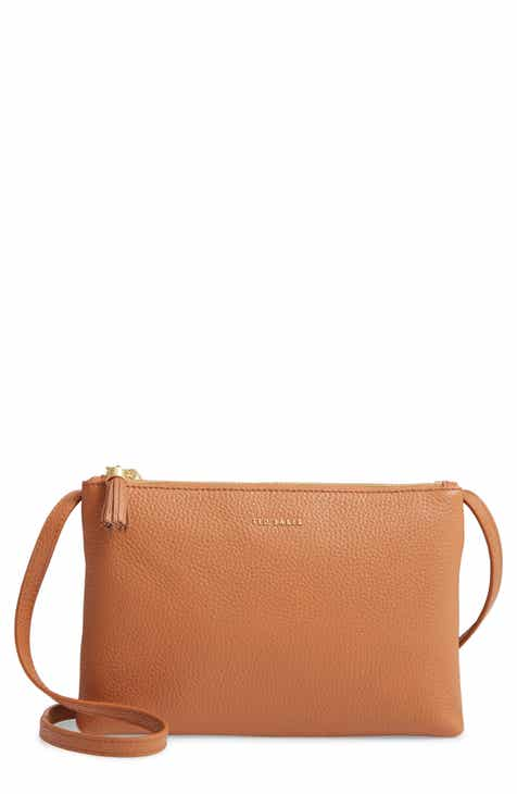 4534adbe9def Ted Baker London Maceyy Double Zip Leather Crossbody Bag