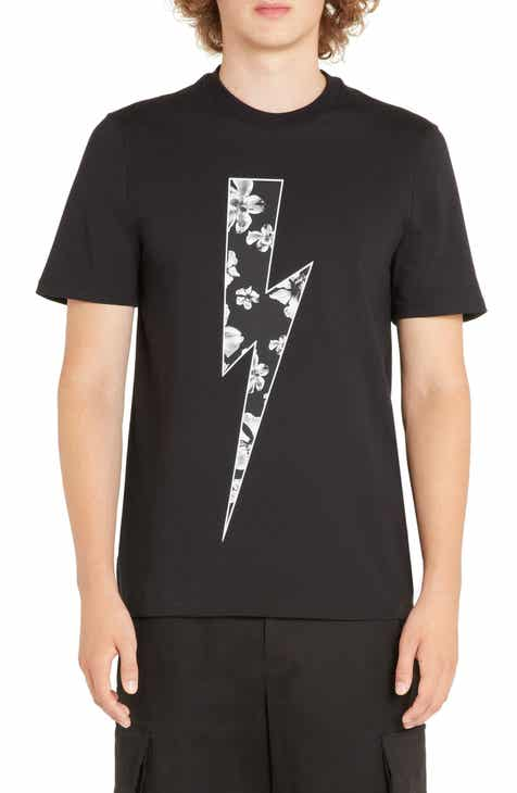 3680bf1fa39 Neil Barrett Floral Thunderbolt Graphic T-Shirt