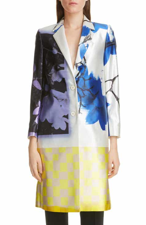 Dries Van Noten Richy Hand Painted Cotton & Silk Jacket by DRIES VAN NOTEN