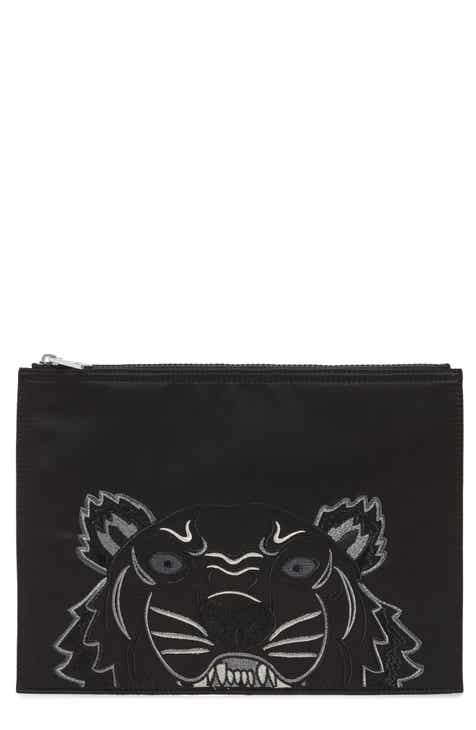 Kenzo Tiger Embroidered A4 Pouch