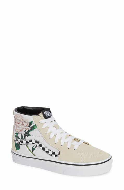 Vans Sk8-Hi Checker Floral High Top Sneaker (Women) e279e4291