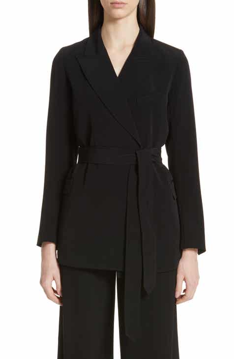 Co Tie Waist Stretch Crepe Blazer By CO by CO Great Reviews