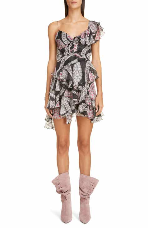 Isabel Marant Ruffled Paisley Silk Minidress by ISABEL MARANT