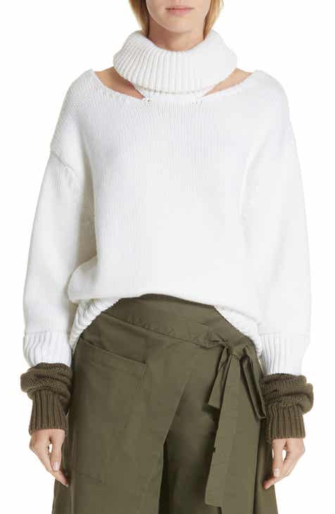 MONSE Wool Double-Cuff Cutout Sweater by MONSE