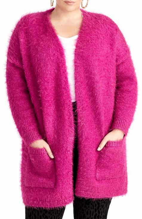 RACHEL Rachel Roy Amara Fuzzy Cardigan (Plus Size) bbdd68253