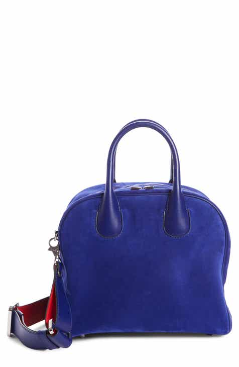 Louboutin Marie Jane Small Suede Satchel