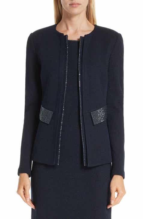 St. John Collection Mod Crystal Trim Knit Jacket by ST. JOHN COLLECTION
