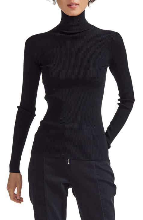 maje Miloa Skinny Ribbed Turtleneck by MAJE