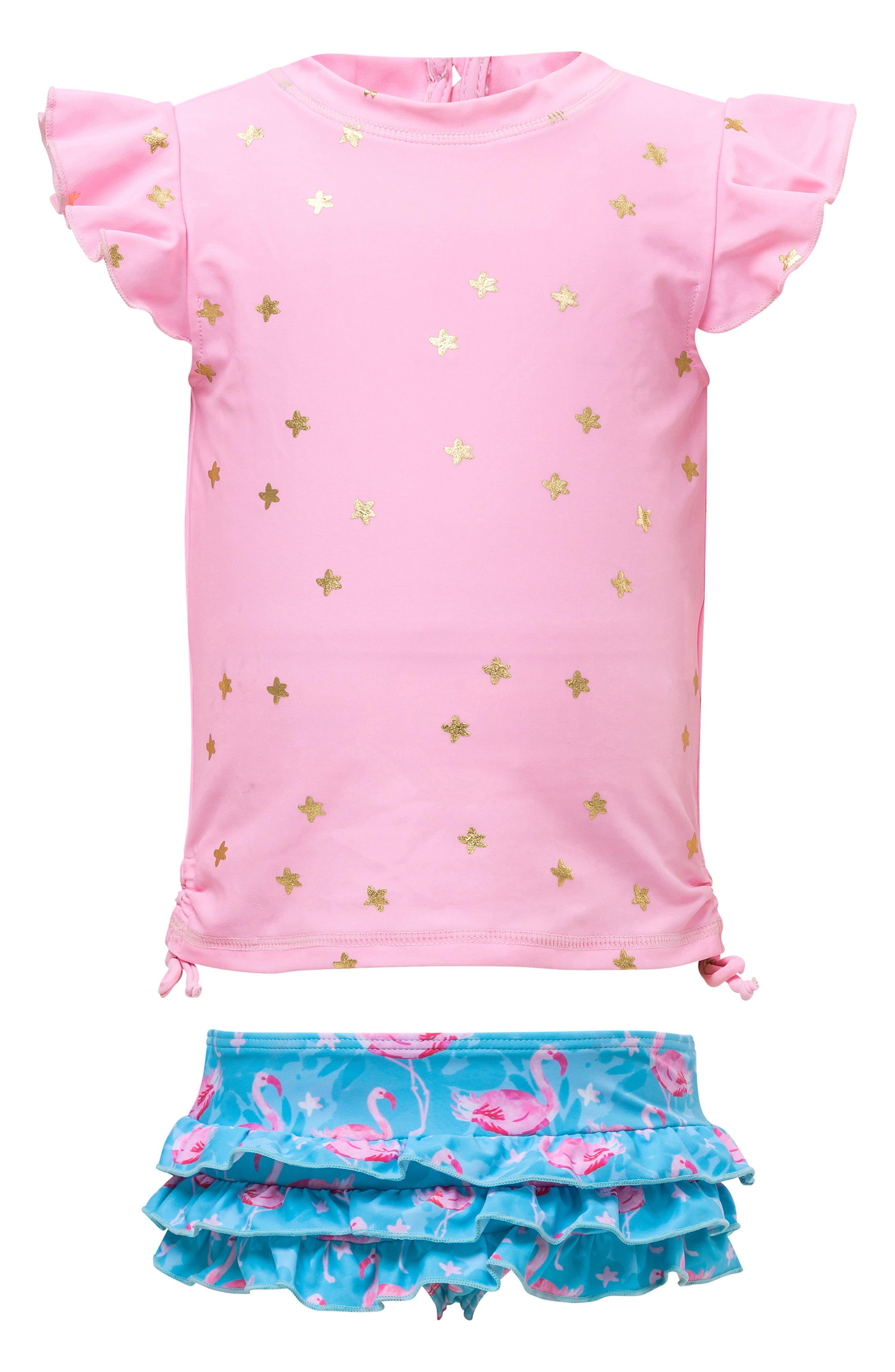 Girls' Clothing (newborn-5t) Ambitious Joe Boxer Toddler Baby Girl One Piece Swimsuit Swim Floral Purple Sz 12m
