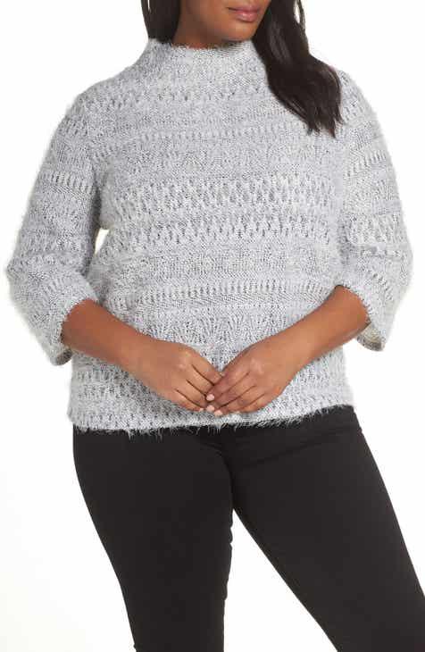 b49945c65eb5 Vince Camuto Eyelash Knit Sweater (Plus Size)
