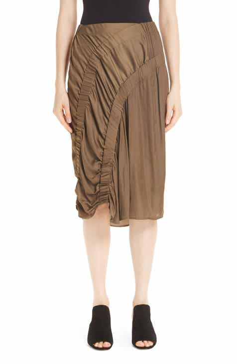 Zero + Maria Cornejo Ruched Skirt by ZERO AND MARIA CORNEJO