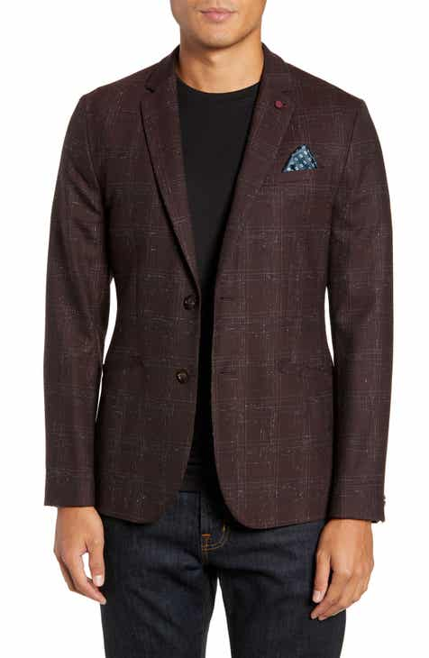 Ted Baker London Ddar Slim Fit Bouclé Check Sport Coat