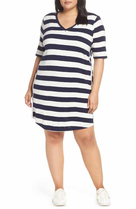 Caslon® Slub Knit Dress (Plus Size) by CASLON
