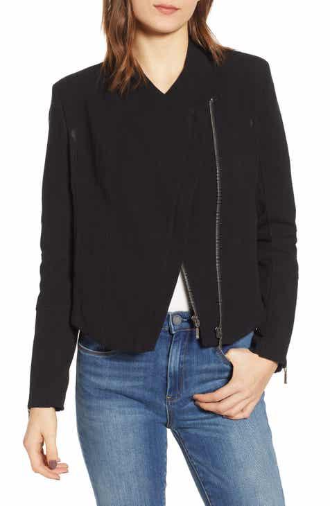 de5c9219de3 BLANKNYC Mesh Detail Crepe Jacket