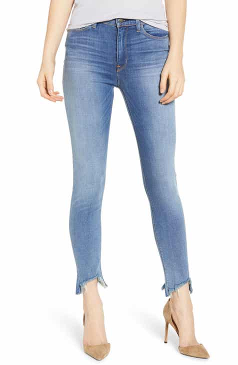 Seven7 Raw Hem Ankle Skinny Jeans (Radiant) (Plus Size) by SEVEN7