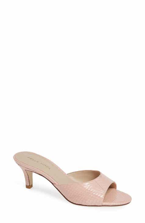 03717edde8a Pelle Moda Bex Kitten Heel Slide Sandal (Women)