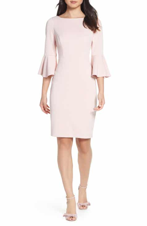 25476631d5d Harper Rose Bell Sleeve Bateau Neck Sheath Dress