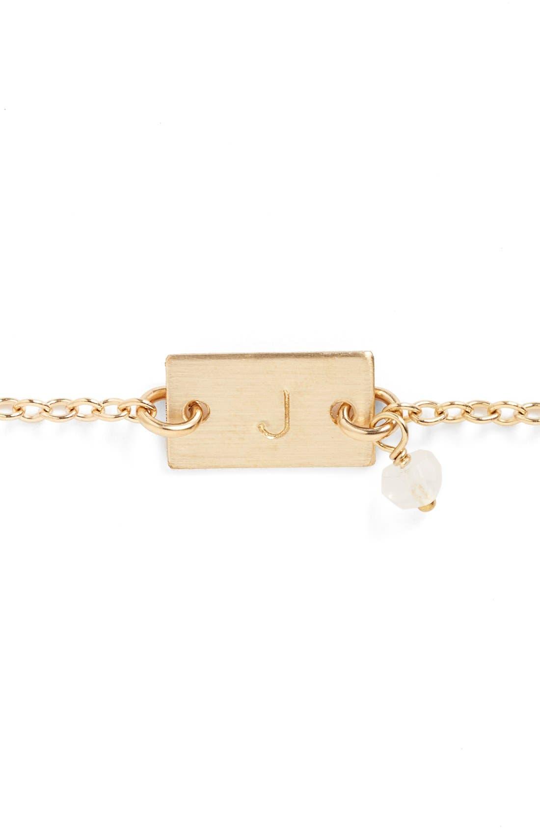 Shaka Initial 14k-Gold Fill Bar Bracelet,                             Alternate thumbnail 2, color,                             14K Gold Fill J