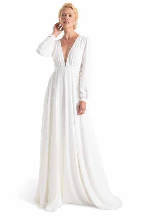 612ccc053e6 Joanna August Floyd V-Neck Long Sleeve Gown