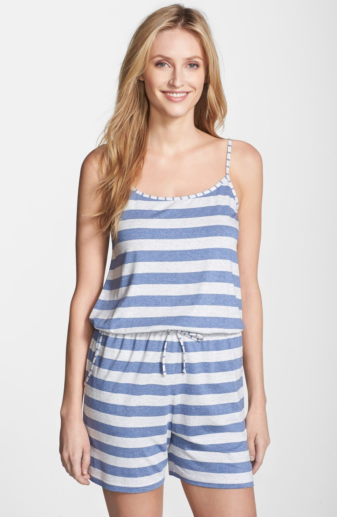 Alternate Image 1 Selected - Tommy Bahama Stripe Jersey Romper