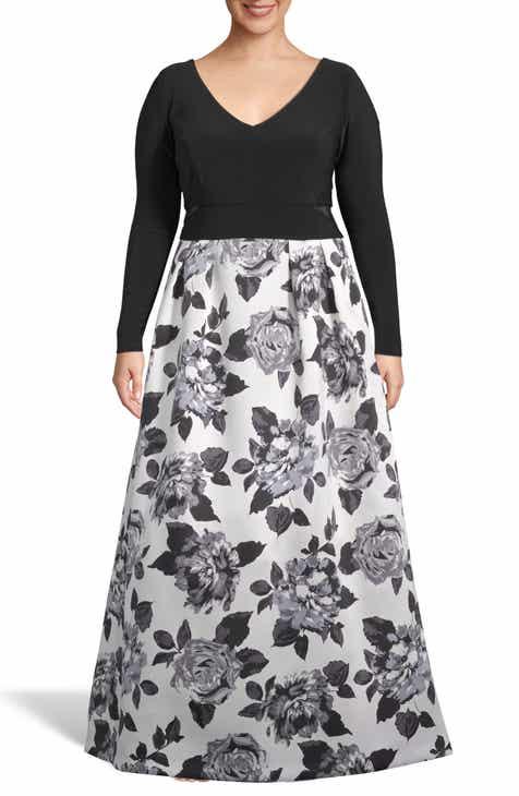 Xscape Floral Print Skirt Evening Dress (Plus Size) dbbf0f47241