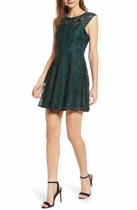 5f1cb6cedfa Speechless Lace Skater Dress