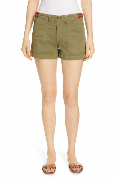 FRAME Le Vintage High Waist Cutoff Bermuda Shorts (Medina) by FRAME DENIM