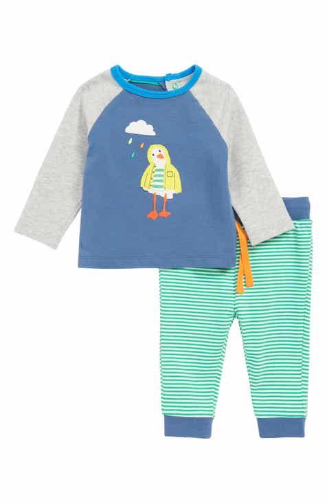 7ee8d597f8d9 Mini Boden Fun Jersey Appliqué T-Shirt   Pants Set (Baby)