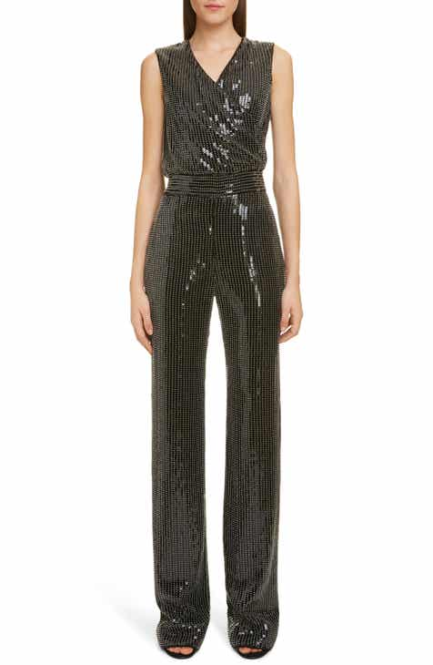 7cb804dc3e65bb Balmain Beaded Sequin Jumpsuit