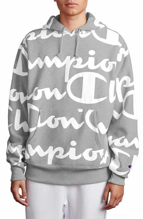 382f1034985e Champion All Over Print Hooded Sweatshirt