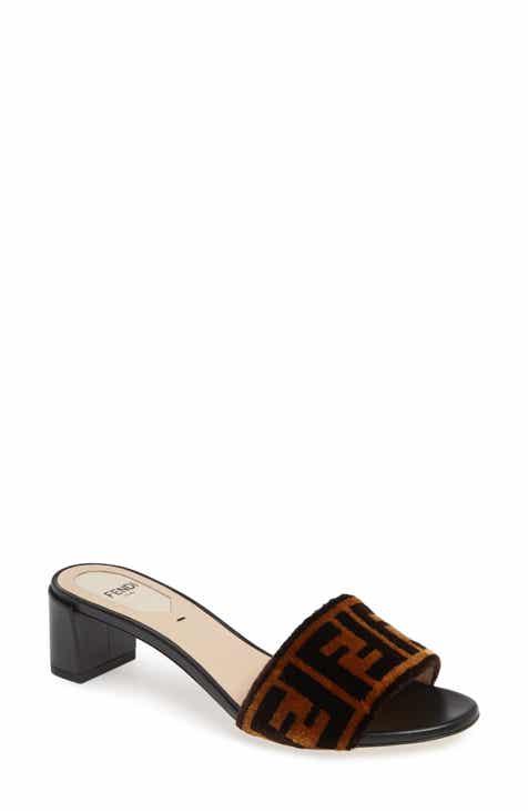 5de4580728d9d9 Fendi Logo Slide Sandal (Women)