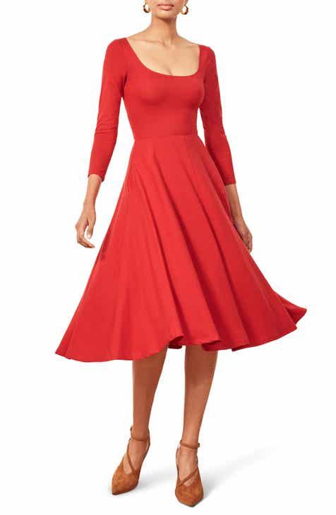 dc23722b412 Reformation Lou Midi Dress (Regular   Plus Size)