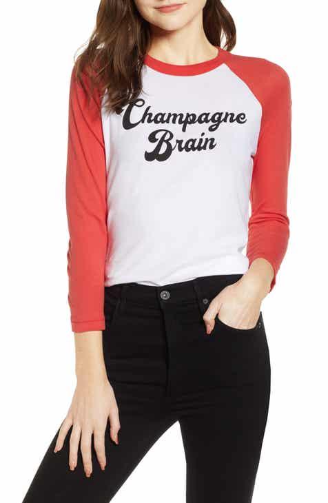 5d6c58eaf4a Wildfox Champagne Brain Cotton Tee