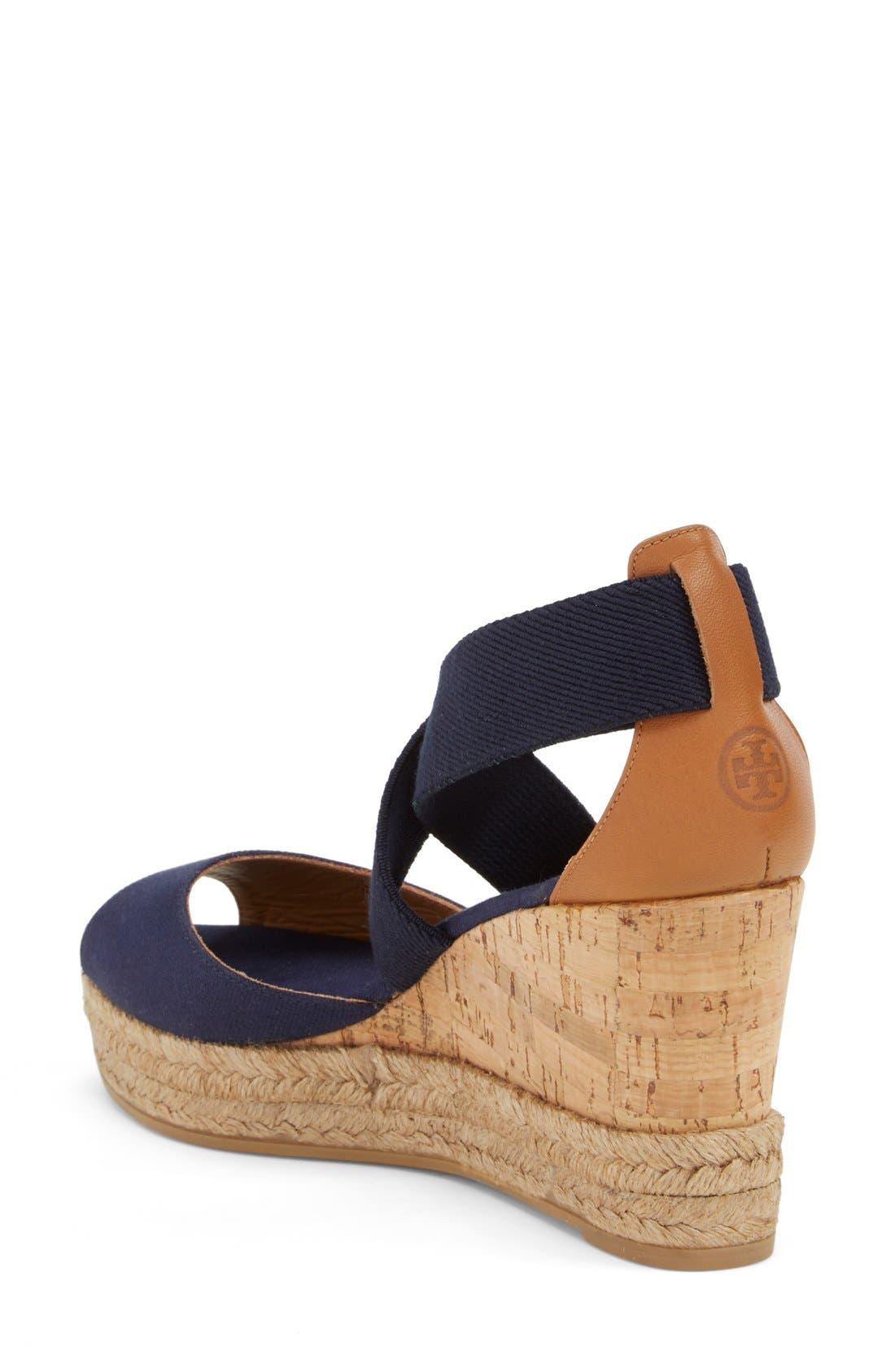 Alternate Image 2  - Tory Burch Peep Toe Sandal (Women)