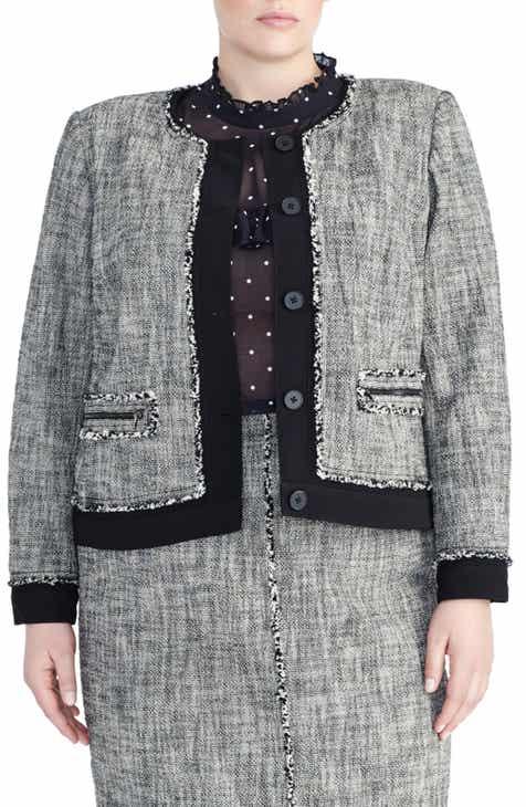62d16a491ef Rachel Roy Collection Tweed Jacket (Plus Size)