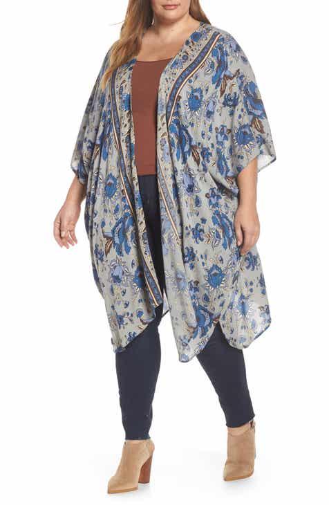 cf098b0e4a5e Angie Print Kimono (Regular   Plus Size)