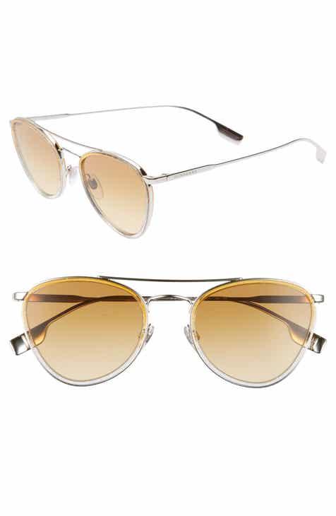 8508a4f8f42 Burberry 51mm Aviator Sunglasses