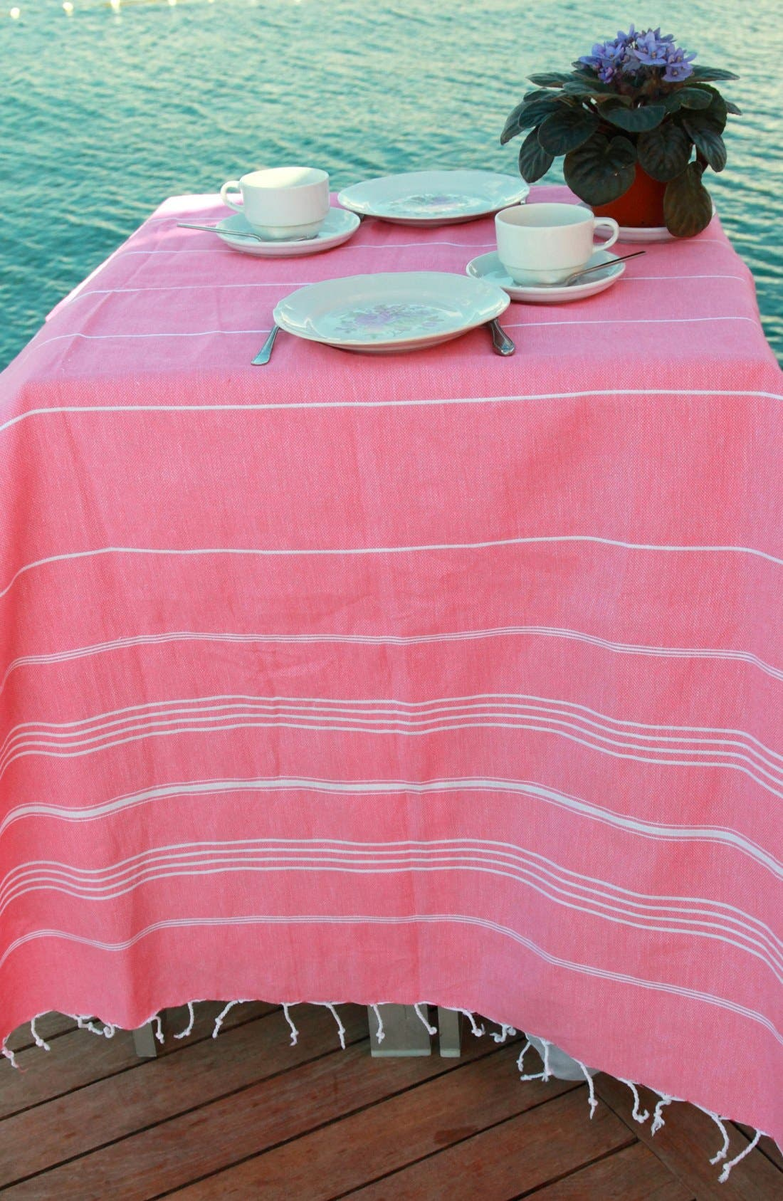 Alternate Image 3  - Linum Home Textiles 'Lucky' Turkish Pestemal Towel