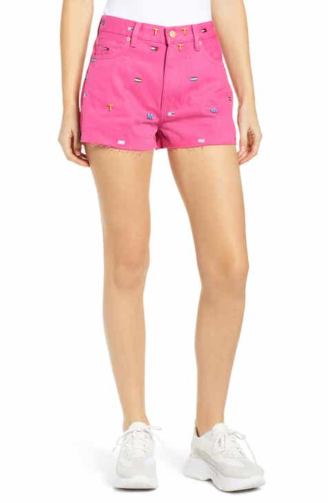 TOMMY JEANS Logo Embroidered Denim Shorts by TOMMY JEANS