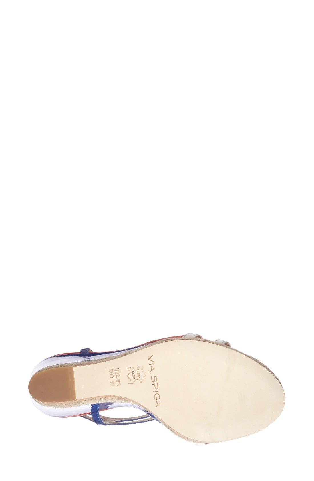 Alternate Image 5  - Via Spiga 'Meza' Leather Dual Ankle Strap Platform Wedge (Women) (Nordstrom Exclusive)