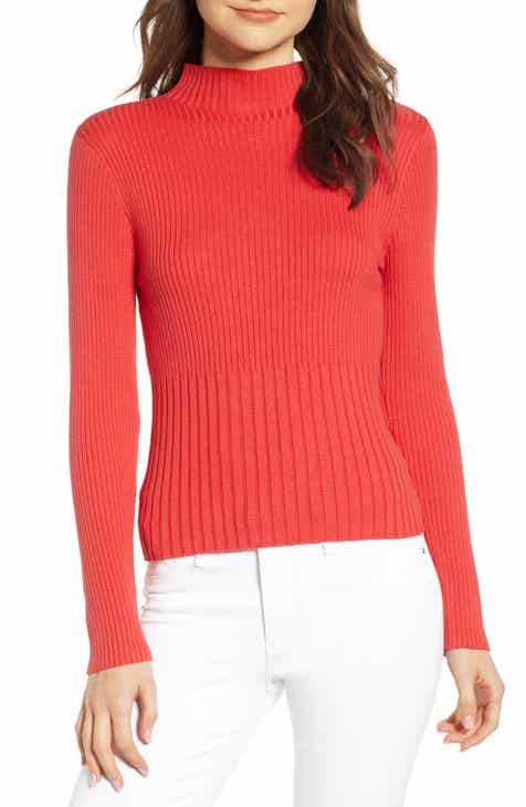 026c65b793599 Chelsea28 Ribbed Mock Neck Pullover