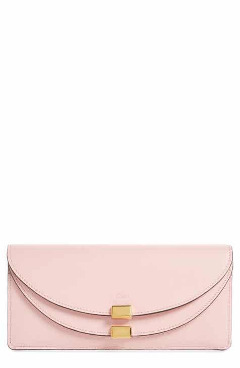 Chloé Georgia Slim Continental Leather Wallet 8395f1ad44