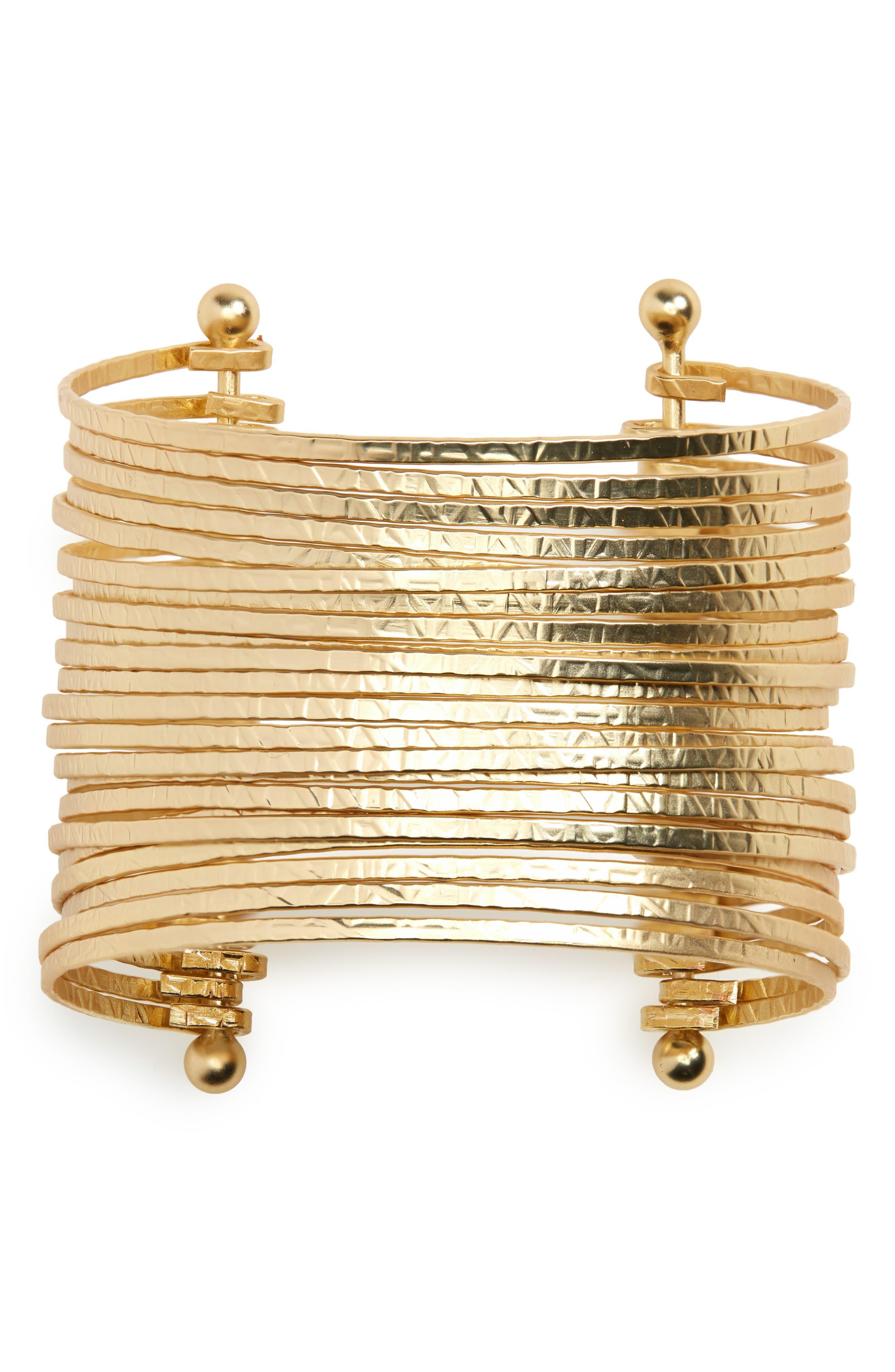 split top Cuff brass bracelet
