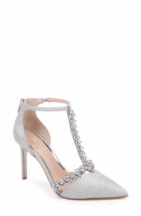 9a9a8de95ea Jewel Badgley Mischka Meena Crystal Embellished T-Strap Pump (Women)
