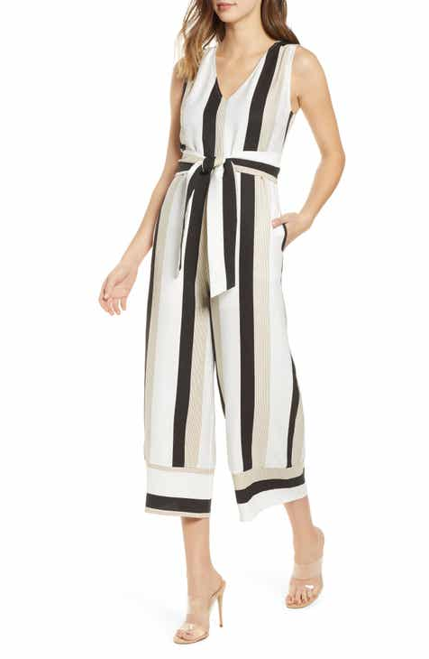 All In Favor Tie Front Jumpsuit By ALL IN FAVOR by ALL IN FAVOR Sale