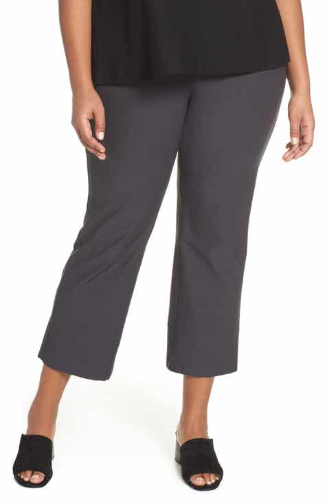 f48638b2070 Eileen Fisher Flare Ankle Pants (Plus Size)